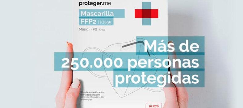 Mascarillas Ffp2 de Proteger.me