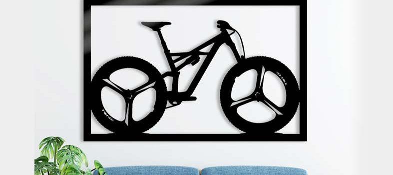 cuadro decorativo mountain bike cortayrecorta